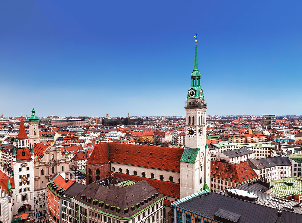 St. Peters Church, with the best view in Munich from its tower