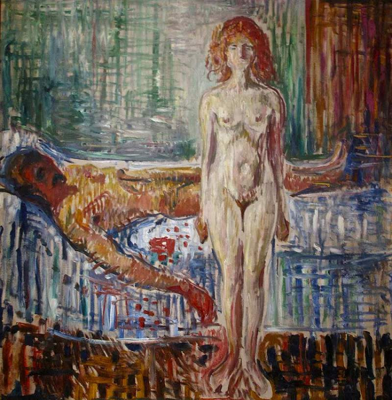 Edvard Munch, The Death of Marat, 1907