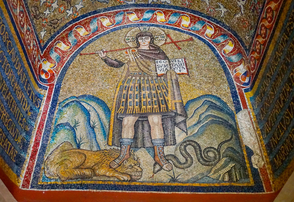 Jesus as a warrior king in the chapel of Sant'Andrea