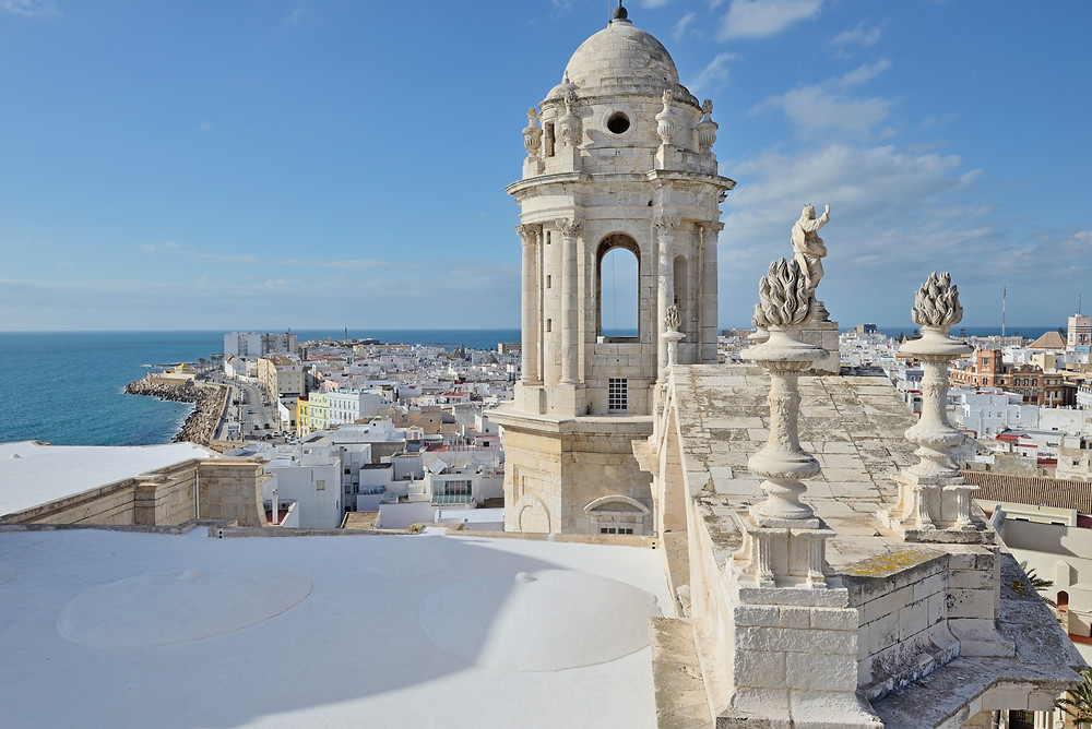 Cathedral of Cadiz in Andalucia on the Atlantic coast