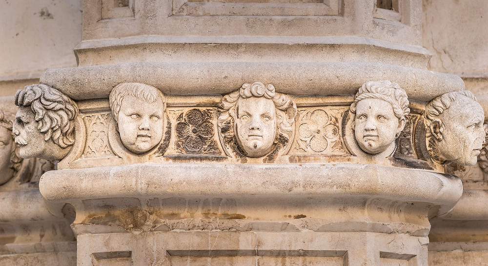 another detail from the frieze of 71 heads