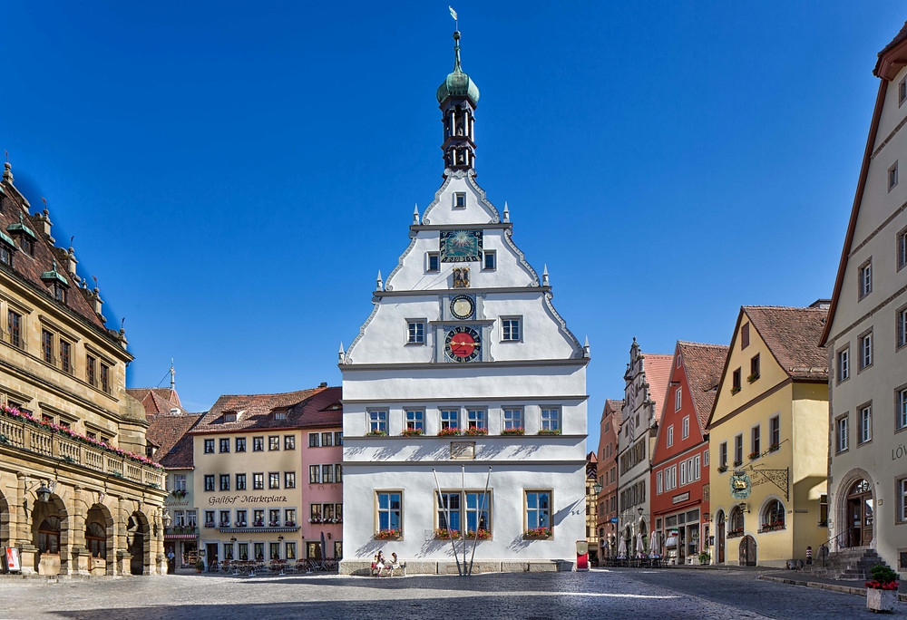 street scene in Rothenburg ob der Tauber
