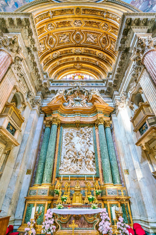 the high altar of Sant'Agnese