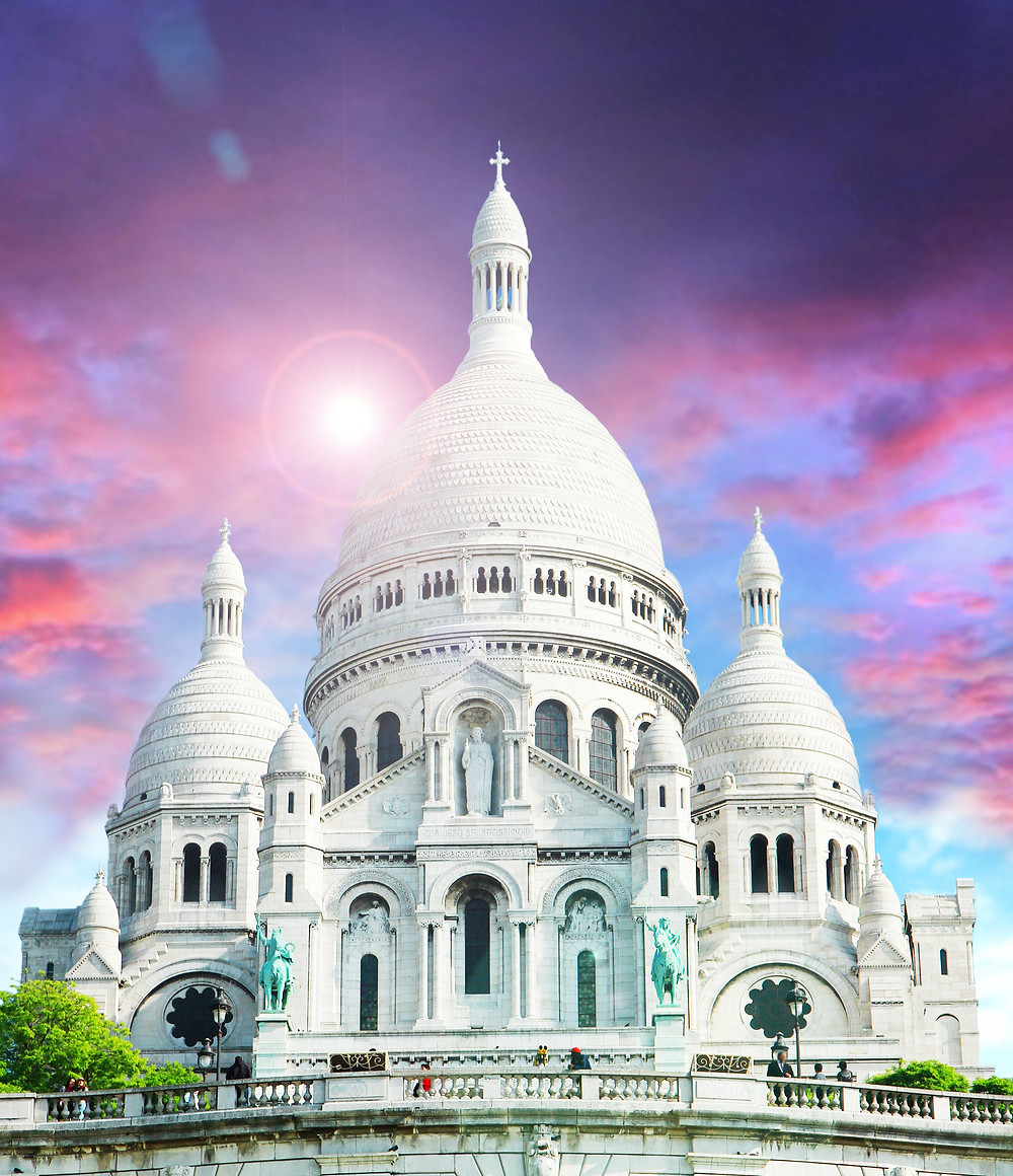 Sacre Coeur in Paris' Montmartre neighborhood