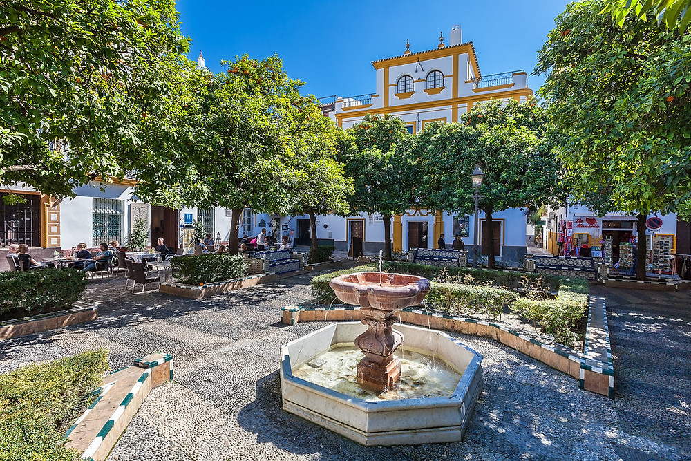 Plaza Dona Elvira in Seville's Barrio Santa Cruz