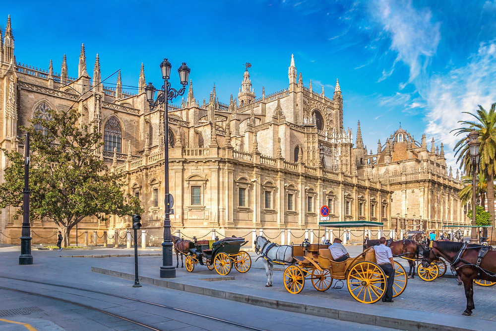 Seville Cathedral, a massive Gothic edifice in Seville