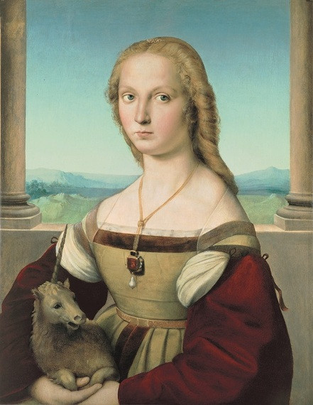Raphael, Young Woman With a Unicorn, 1505