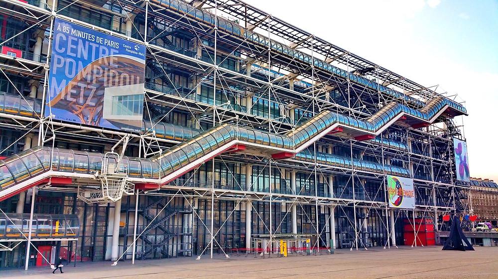 the Pompidou Centre, Paris' modern art museum