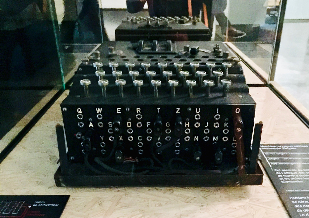 Alan Turing's invention, the Bombe, used to crack the German's Enigma code