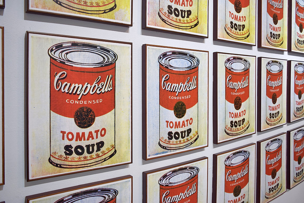 Andy Warhol's Campbell Soup Cans, which helped launch Pop Art