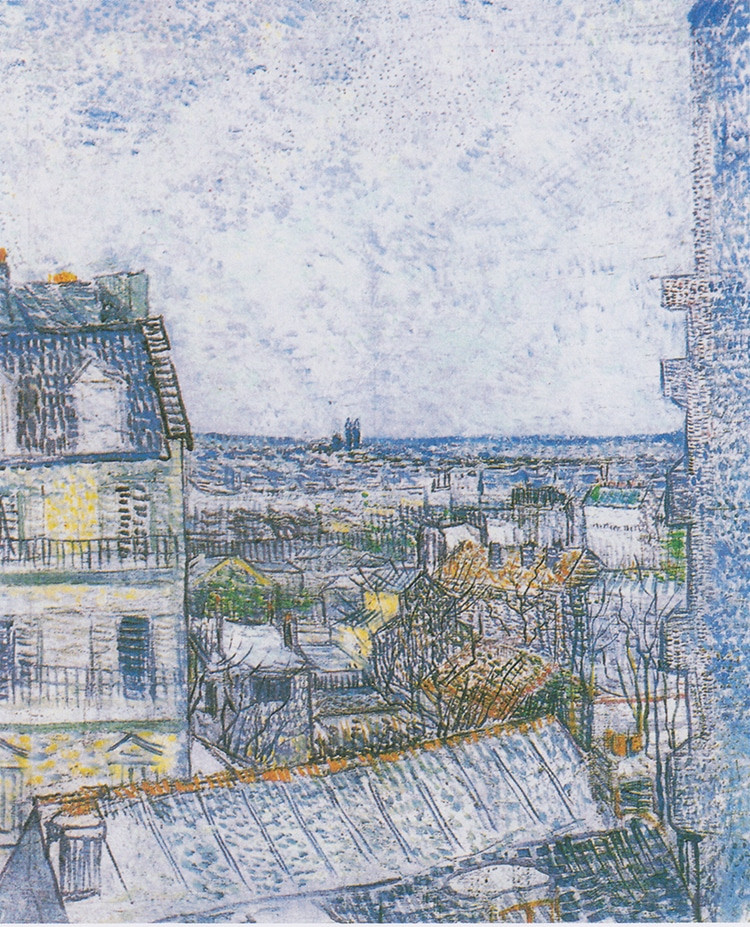Van Gogh, View of Paris from Vincent's Room in the Rue Lepic, 1887