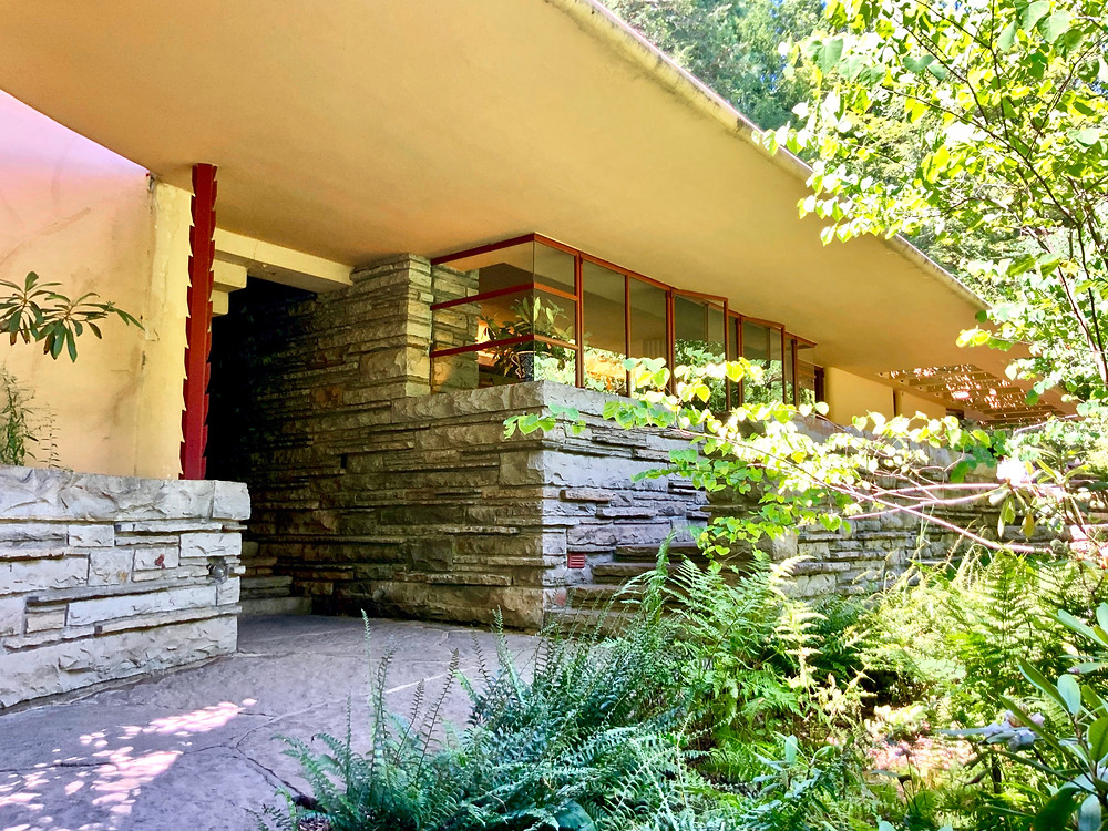 entrance to the guest cottage at Fallingwater