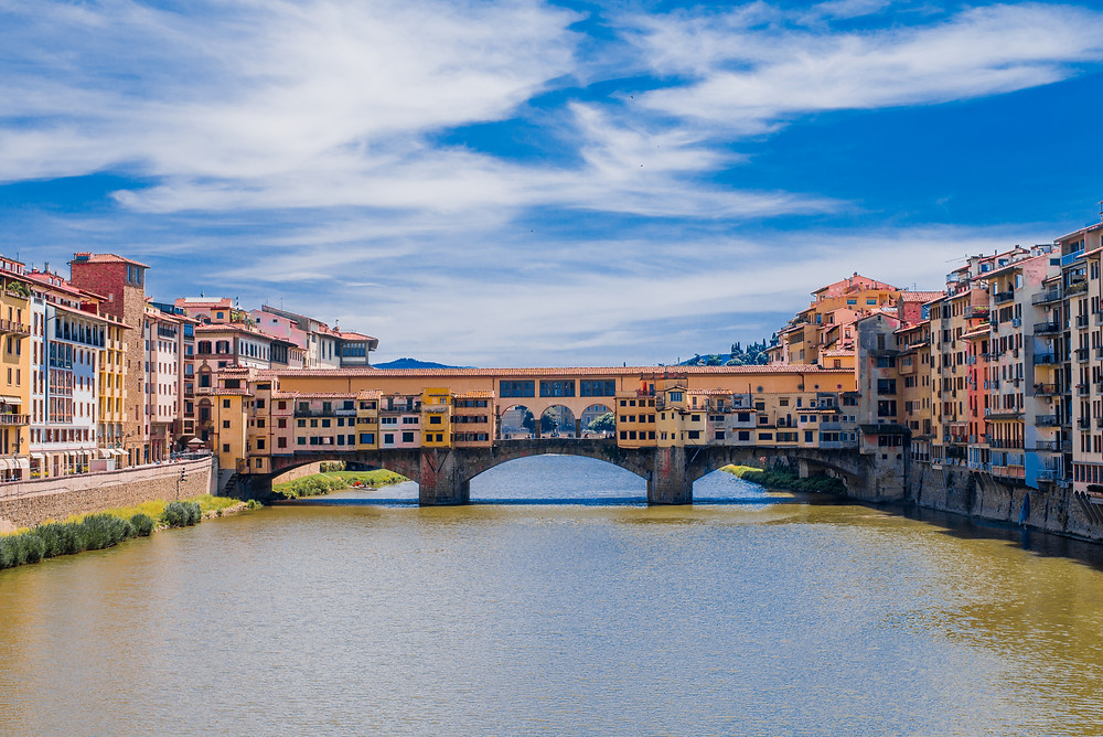 the famous Ponte Vecchio over the Arno River in Florence