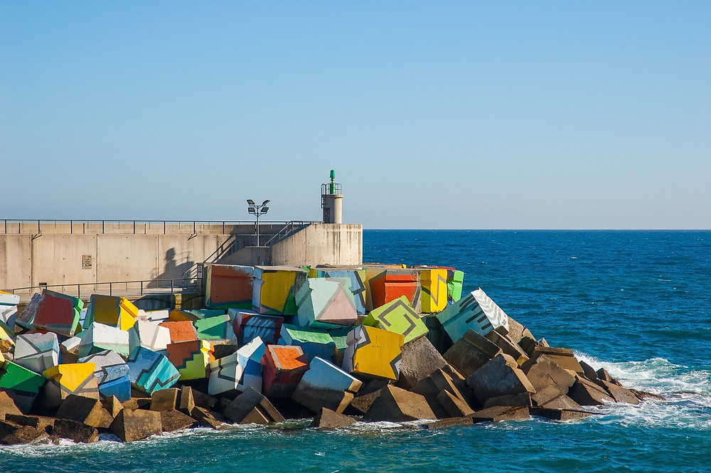 the Cubes of Memory in Llanes Spain