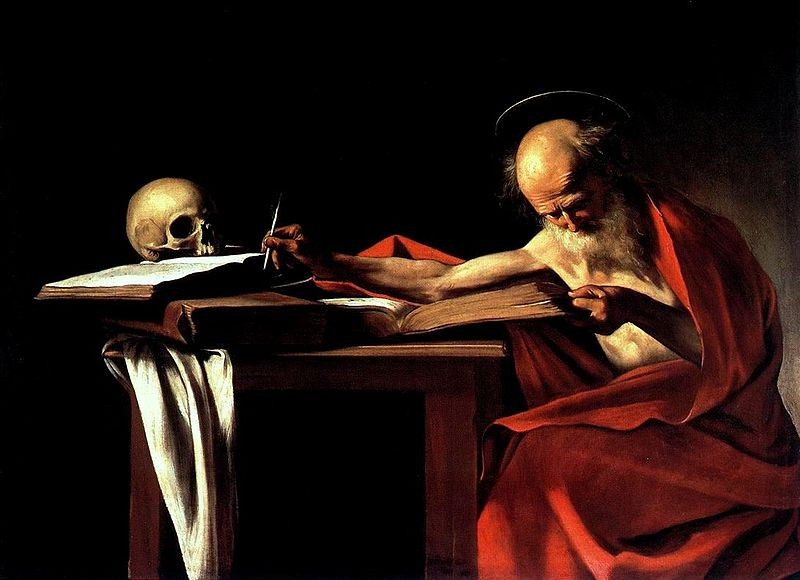 Caravaggio, St. Jerome Writing, 1605