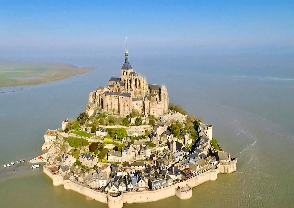 Mont Saint-Michel, an island abbey which is a UNESCO site in France