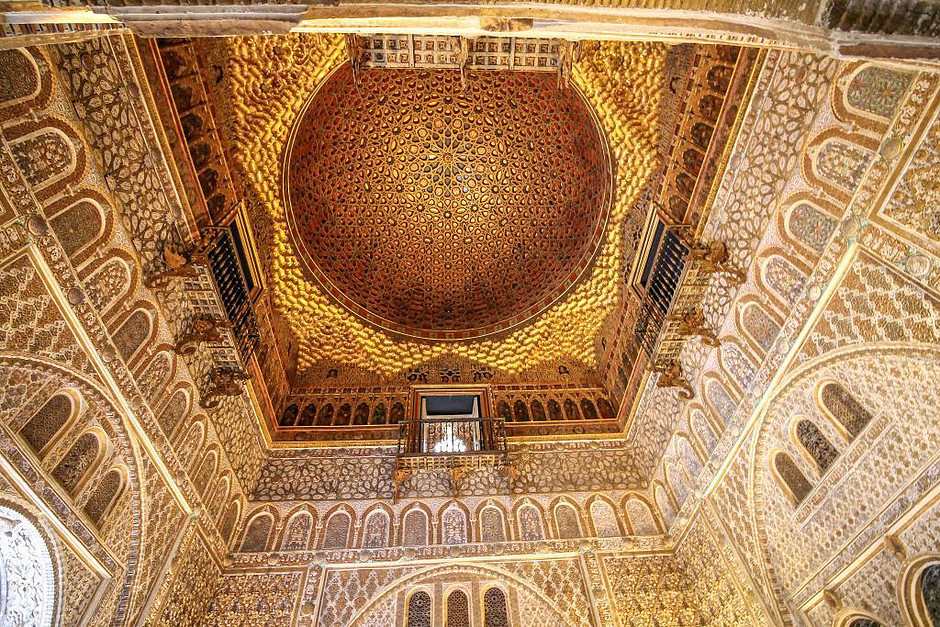 ceiling in the Ambassador's Hall of the Royal Alcazar