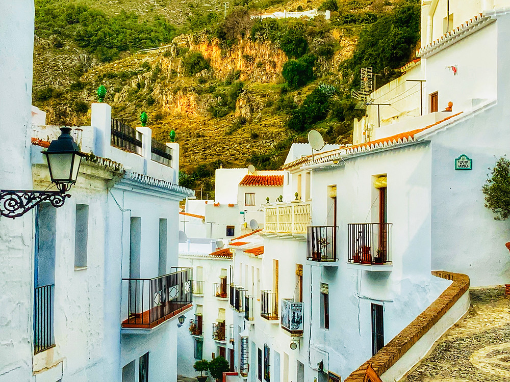 spotless white houses in the pretty village of Frigiliana Spain
