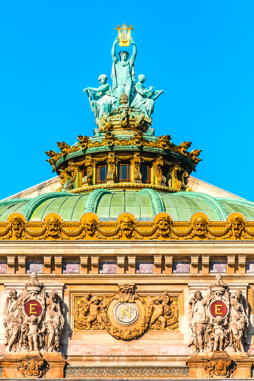 Opera Garnier rooftop with Apollo sculpture