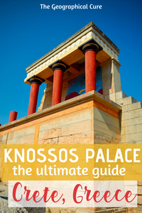 the mazing archaeological site  of Knossos Palace in Crete, a must see site in Greece