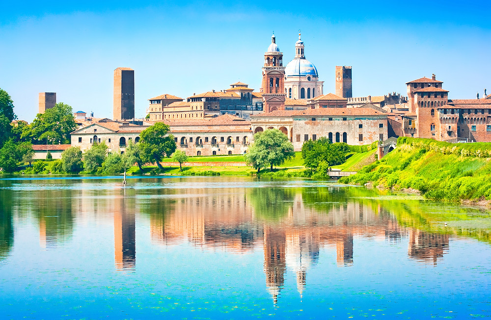 cityscape of the Renaissance town of Mantua, a must visit hidden gem in Italy