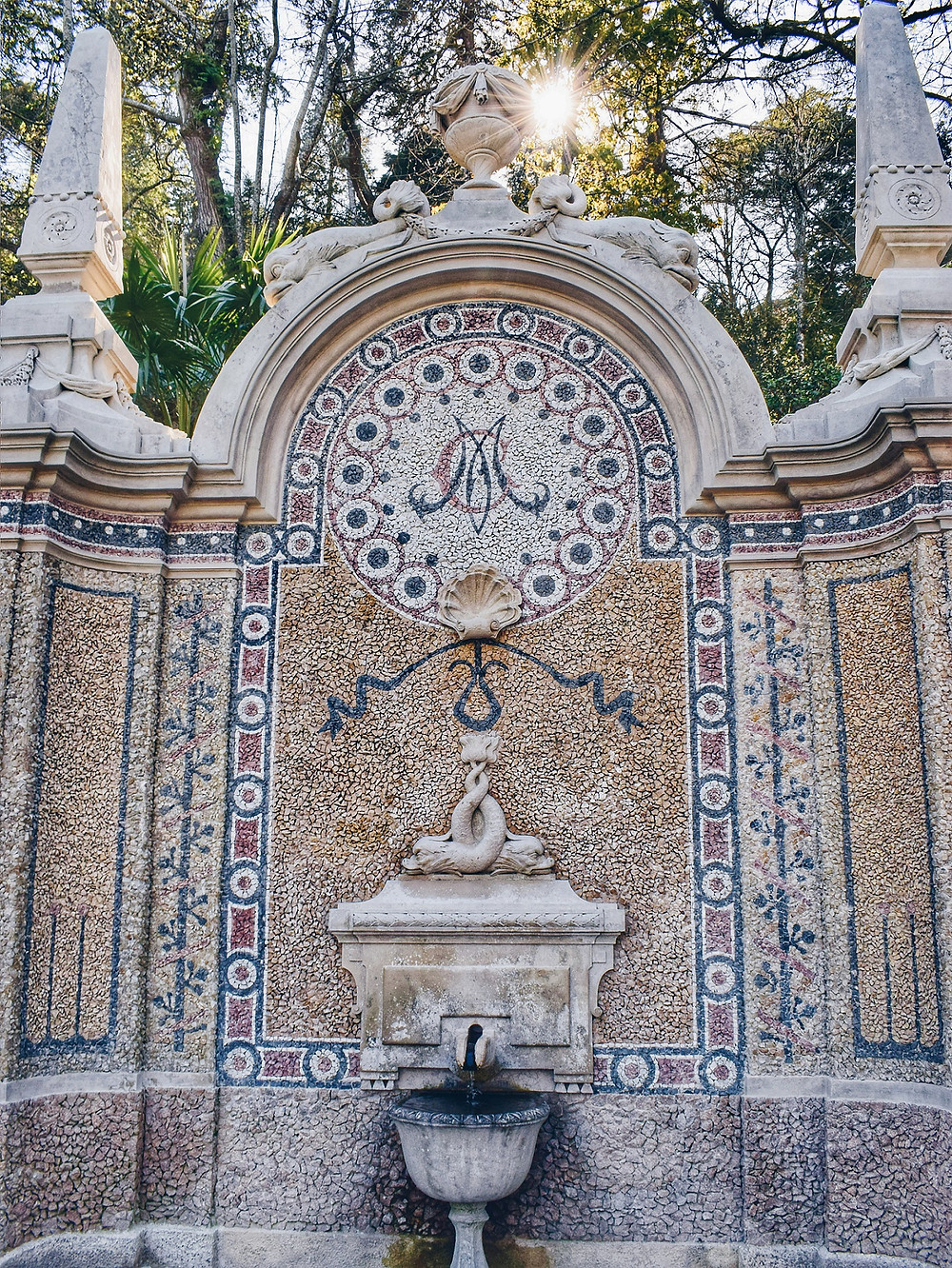 Fountain of Plenty in the Quinta gardens