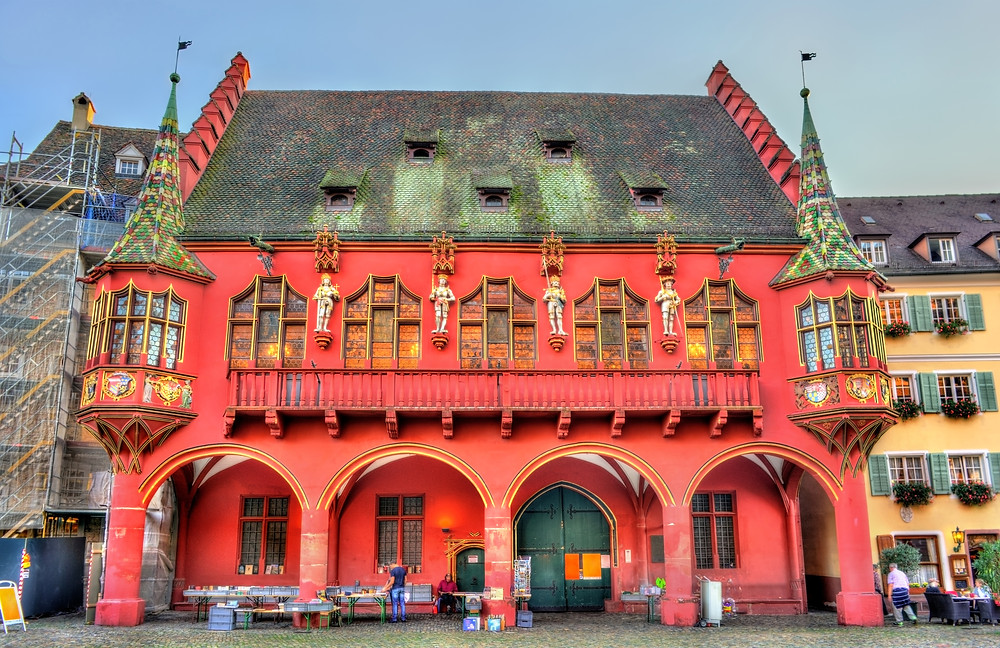 Historical Merchants Hall on the Minster Square in Freiburg