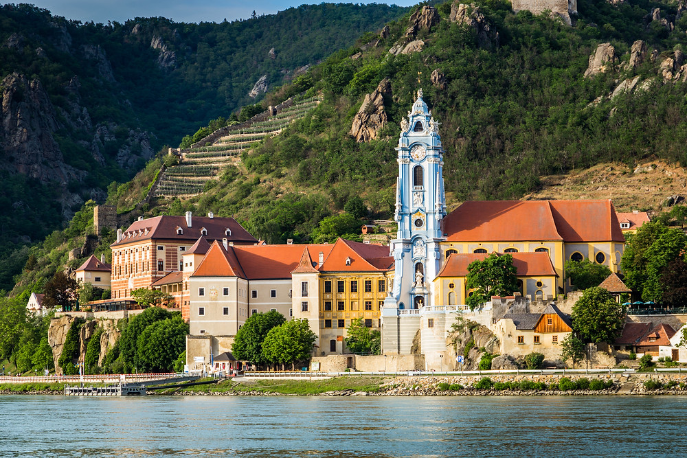 the pretty village of Durnstein and its abbey church