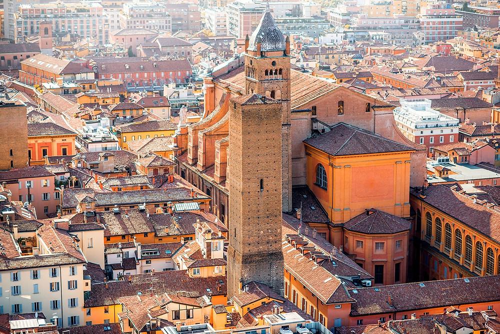 the historic center of Bologna