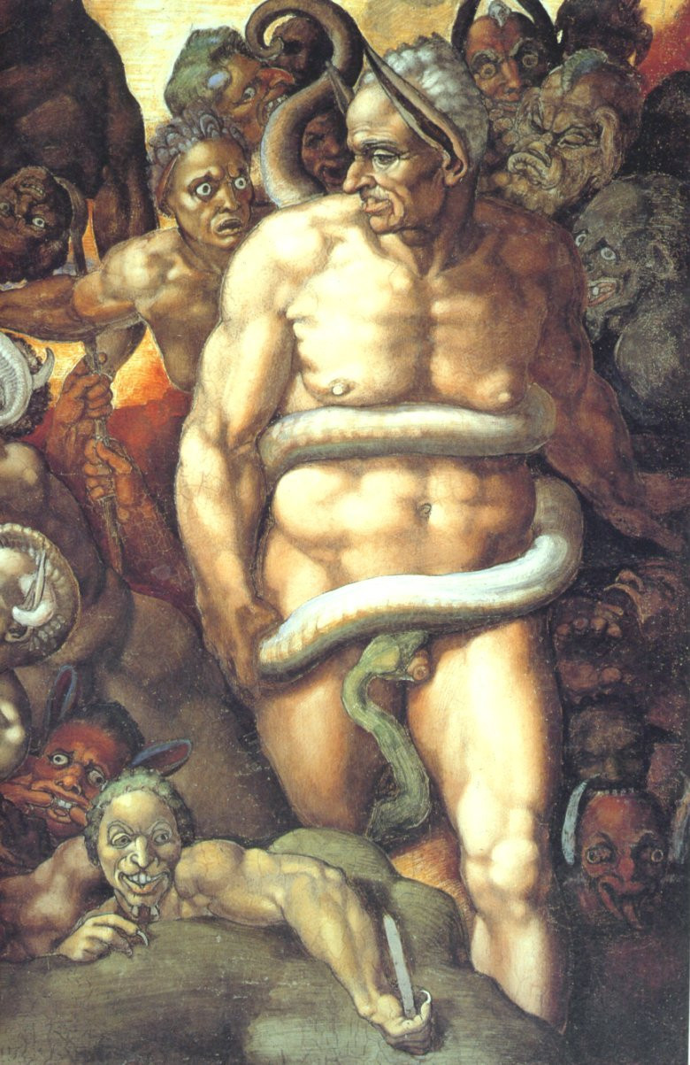 Biagio da Cesena, depicted by Michelangelo as Minos in The Last Judgment