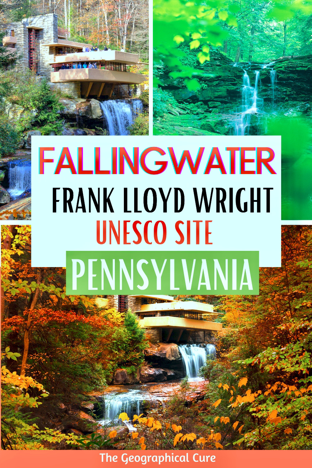 guide to Fallingwater, Frank Lloyd Wright's masterpiece and a UNESCO-listed site in Pennsylania