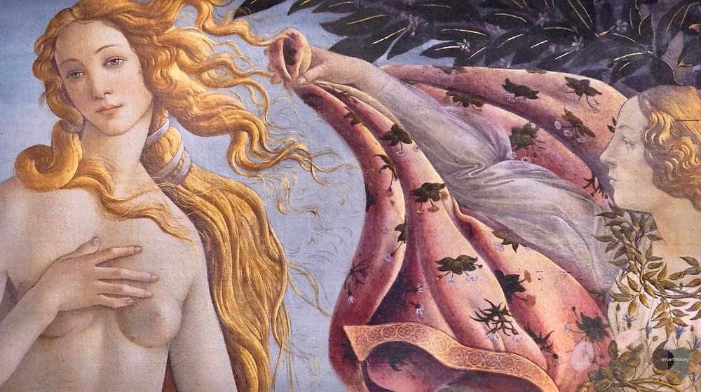 Botticelli, detail of Birth of Venus