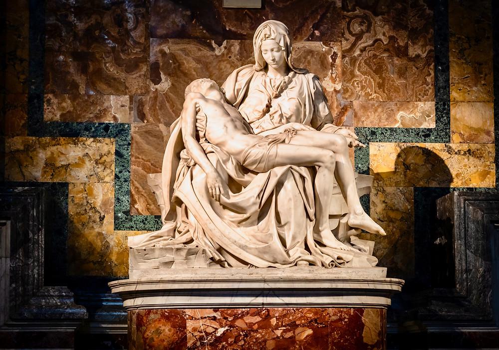 Michelangelo's Pieta in St. Peter's Basilica
