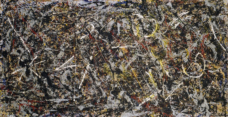 Alchemy is one of Pollock's earliest poured paintings, executed in the revolutionary technique that was his most significant contribution to 20th century art. After long deliberation before the empty canvas, Pollock used his entire body in a picture-making process that is essentially drawing in paint. By pouring streams of paint onto the canvas from a can with the aid of a stick, Pollock made obsolete the conventions and tools of traditional easel painting.