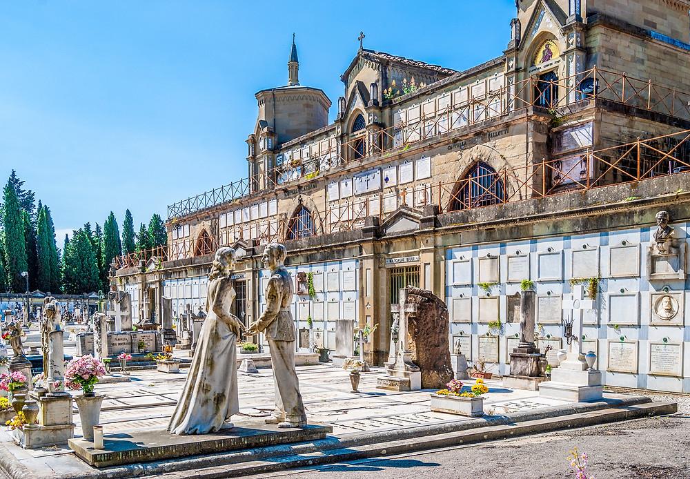 the Porte Sante Cemetery behind San Miniato