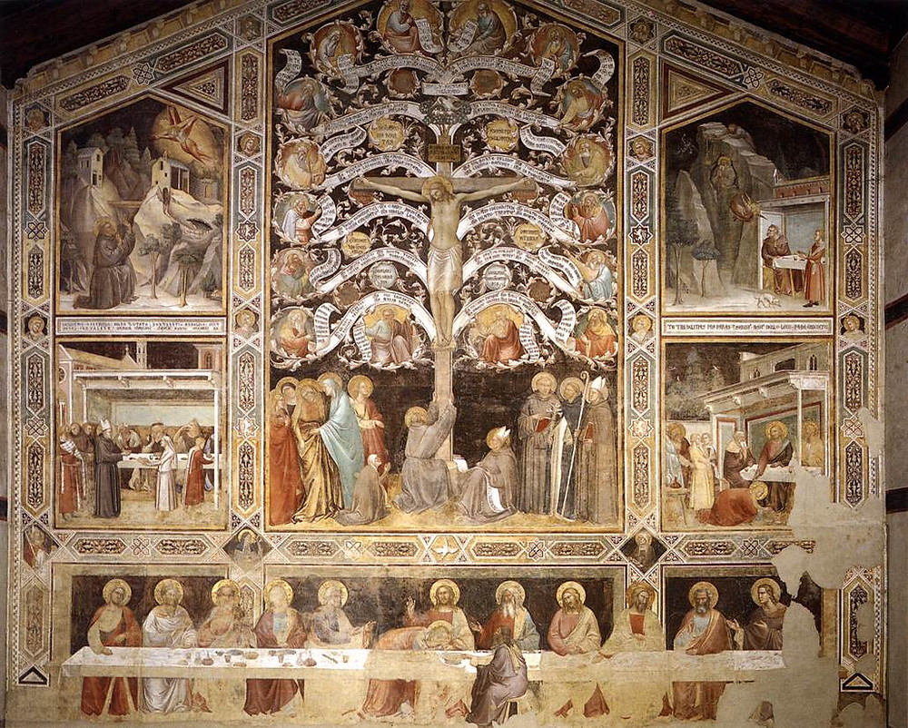 Taddeo Gaddi, The Last Supper and the Life Tree, 1335