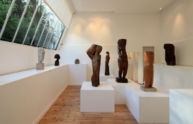 Ossip Zadkine sculptures in the Zadkine Museum