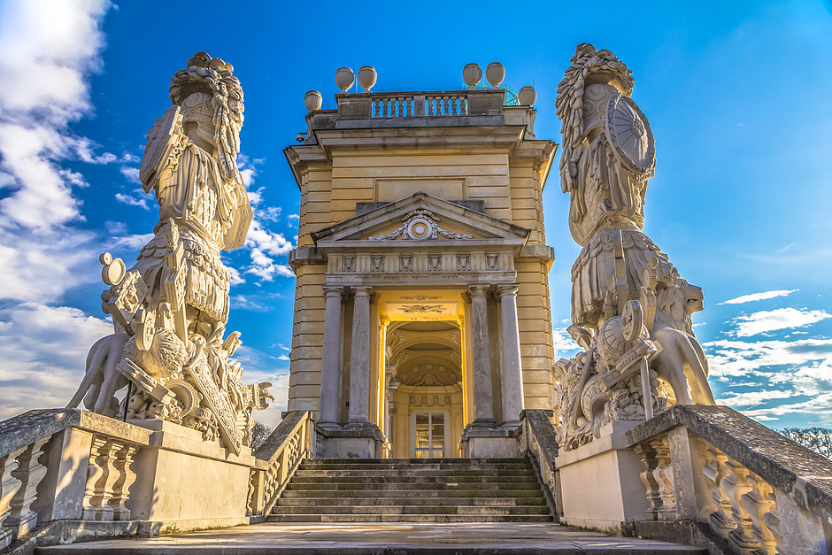 the Gloriette monument at Schönbrunn Palace, walk up it for a great view