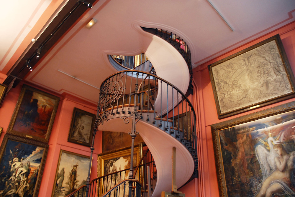 pretty staircase in the Gustave Moreau Museum