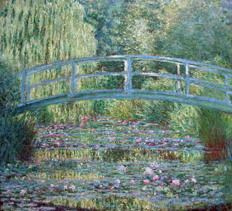 Monet painting of his water garden bridge