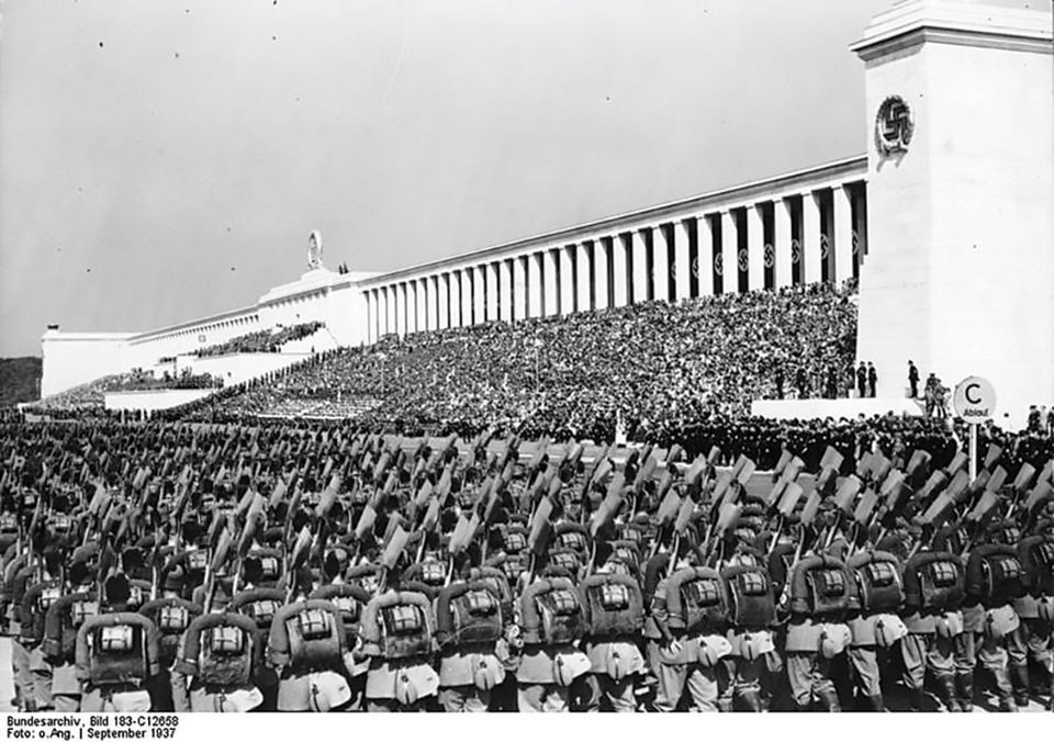 1937 photo from the Zeppelin Grandstand Photo: Bundesarchiv/ O.Ang