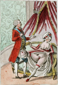 an example of the smutty cartoon pamphlets that were deceminated by revolutionaries