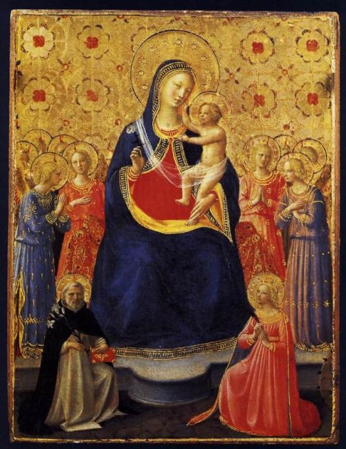 Fra Angelico, The Virgin and the Child Enthroned 1435