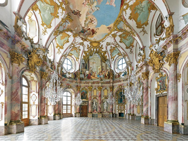 the gorgeous White Hall of the Wurzburg Residenz