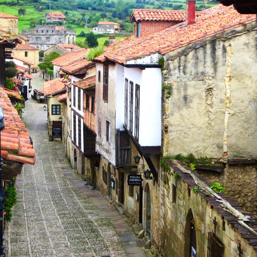 the village of Santillana del Mar in Cantabria Spain