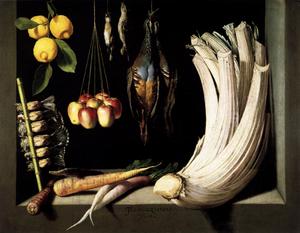 Juan-Sanchez Cotan, Still Life with Game, Vegetables and Fruit, 1602