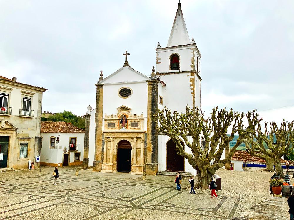 the  Igreja de Santa Maria in the main square of Obidos