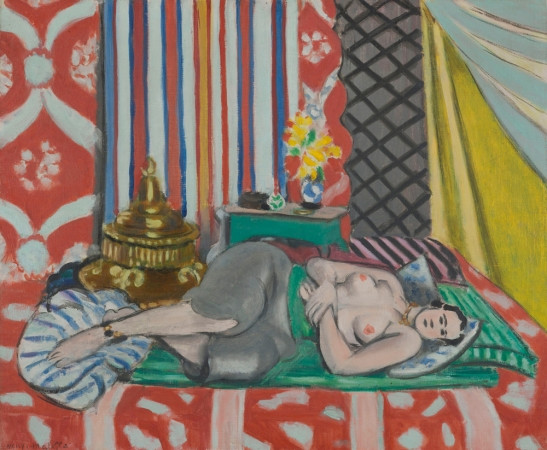 Henri Matisse, Odalisque with Gray Trousers, 1927 -- Matisse was criticized at the time for his domesticated daring.