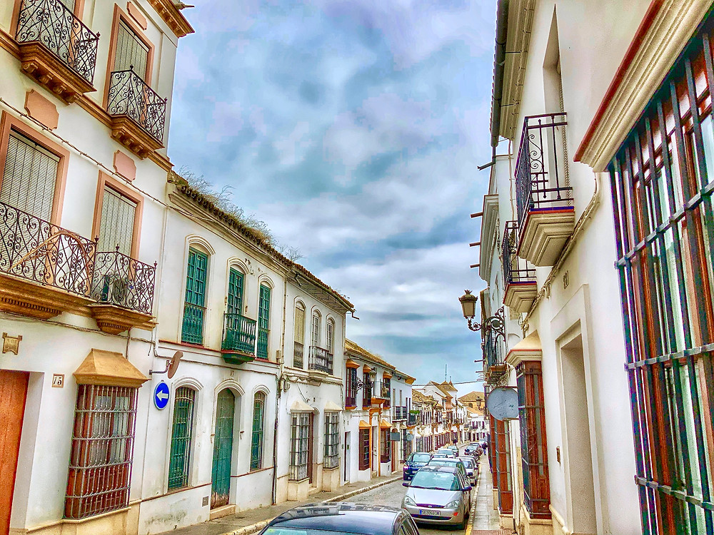 the picturesque Calle San Pedro in Osuna Spain