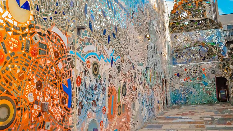 mosaic walls in The Magic Gardens